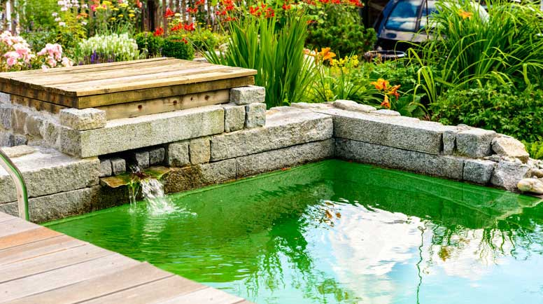 The basics of caring for your water features for Small patio landscaping