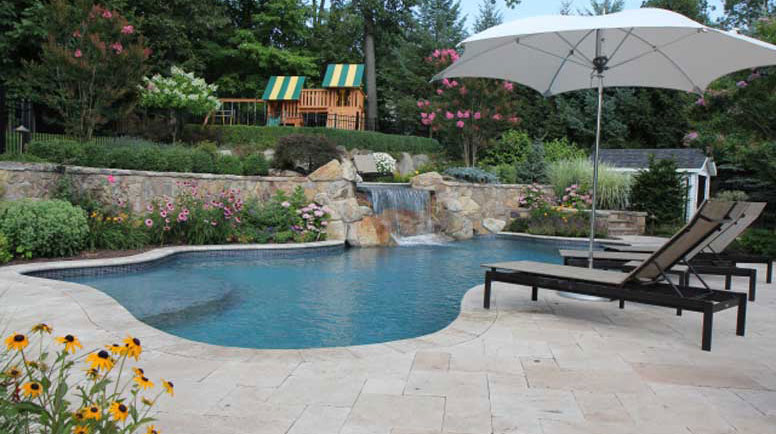 Natural Landscaping Pool