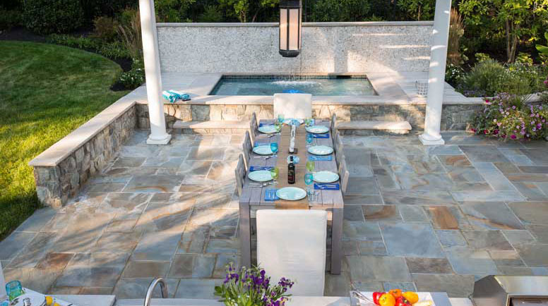 Stone Mosaic Patio