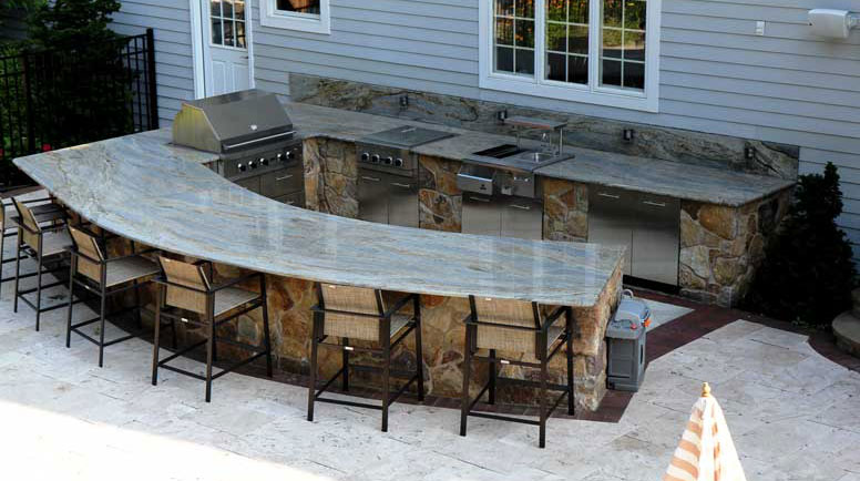 Large Outdoor Kitchen